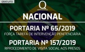 NAC - PORTARIA MJSP Nº 65/2019 / PORTARIA Nº 157/2019 - GRATUITO
